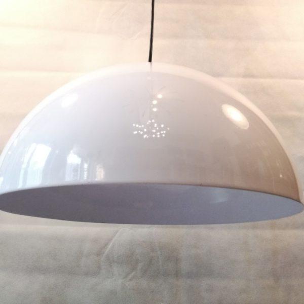 Lampada-sospensione-cupola-alluminio-anni60