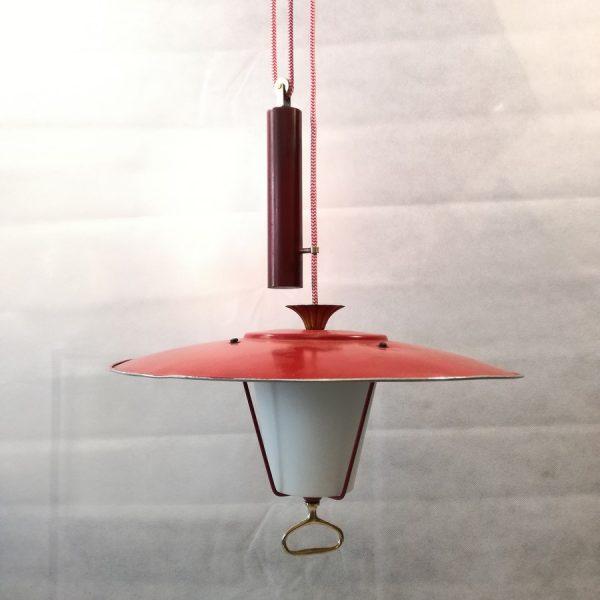 Lampadario-anni50-saliscendi-rosso (2)